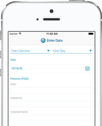 WITH IWATERPRO™ MOBILE APP: ACCESS YOUR DATA ANYWHERE